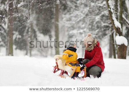 Сток-фото: ребенка · матери · парка · зима · женщину · стороны
