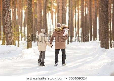 anya · apa · tart · gyermek · kezek · tél - stock fotó © Paha_L