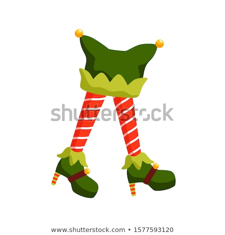 Legs in santa claus costumes and red high heels shoes  Stock photo © deandrobot