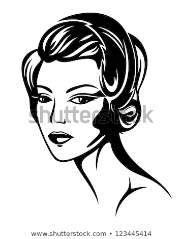 vogue style retro portrait   30s lady stock photo © konradbak
