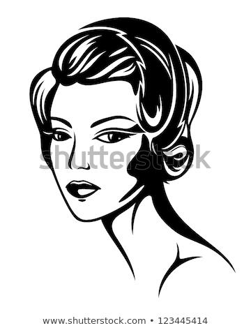Moda stil Retro portre 30s bayan Stok fotoğraf © konradbak