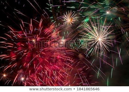fuegos · artificiales · colorido · mostrar · cielo · fiesta · fuego - foto stock © prill