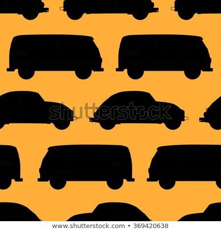 Retro klasszikus utazás lakókocsi furgon kicsi Stock fotó © frescomovie