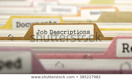 Folder in Catalog Marked as Working Conditions. Stock photo © tashatuvango