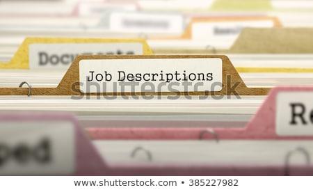 folder in catalog marked as working conditions stock photo © tashatuvango