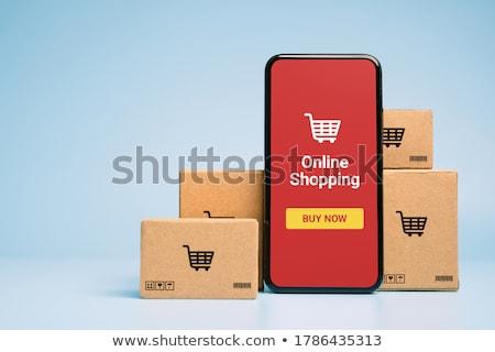 publicidade · laptop · tela · moderno · escritório - foto stock © tashatuvango