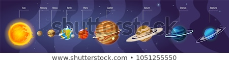 太陽系 アイコン デザイン スタイル 透明な 地球 ストックフォト © robuart