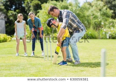 kriket · bat · adam · spor · fotoğrafçılık - stok fotoğraf © jeayesy