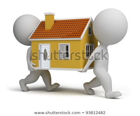 3D Small People - Carries a House Stock photo © AnatolyM