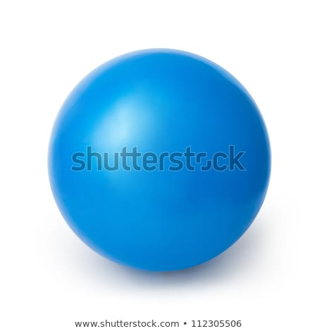 Blue balls on white Stock photo © klikk