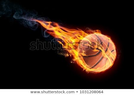 basquetebol · bola · fogo · chamejante · voador · ar - foto stock © bluering