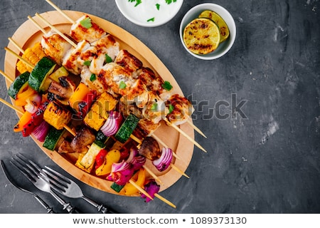Chicken and corn skewer  Stock photo © Digifoodstock