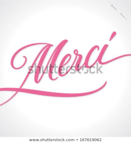 спасибо · стороны · ручной · работы · каллиграфия · вектора · дизайна - Сток-фото © marysan