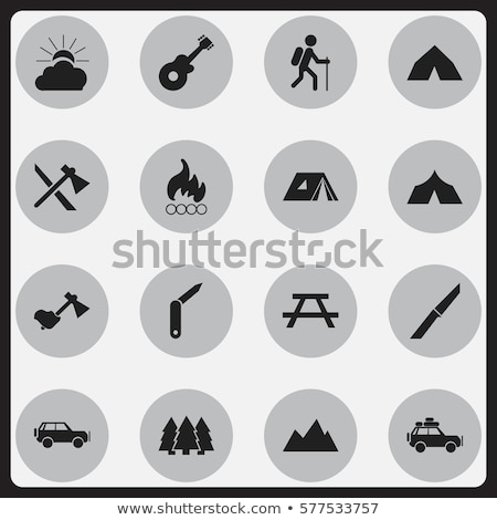 camping axe icon stock photo © angelp