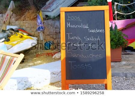 tonhal · szendvics · sültkrumpli · cheddar · sajt · burgonyaszirom - stock fotó © luissantos84