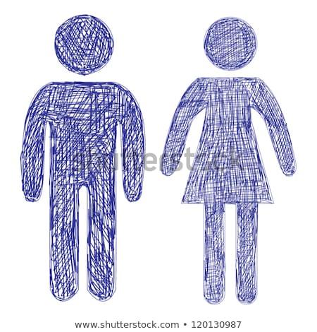 masculino · feminino · símbolo · esboço · ícone · vetor - foto stock © rastudio