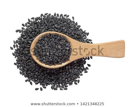 schwarz · Sesam · Heap · weiß · Saatgut · Korn - stock foto © ildi