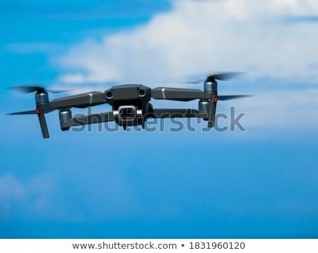 Kamera repülés égbolt Franciaország mező zöld Stock fotó © FreeProd