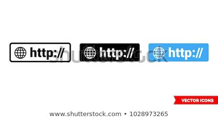 Http ikon kék embléma izolált fehér Stock fotó © Oakozhan