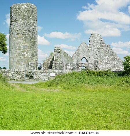 calabazas · cementerio · iglesia · ruinas · nubes · feliz - foto stock © phbcz