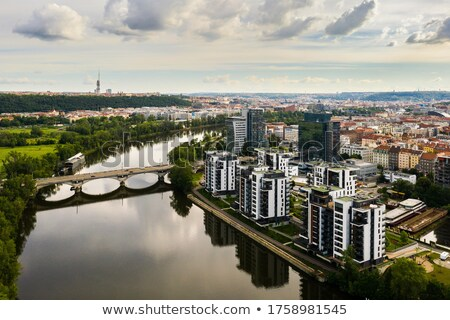 new housing estate, Czech Republic Stock photo © phbcz
