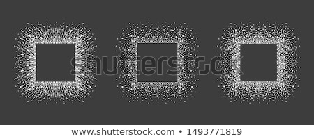 winter square frame with snowflakes stock photo © smeagorl