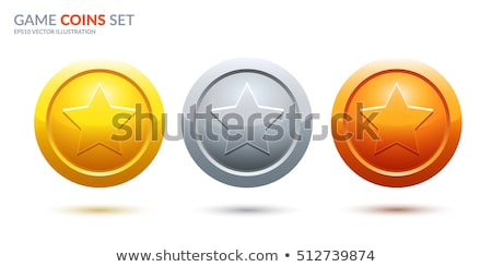 Gold, Silver, Bronze trophy cup. vector Stock photo © Andrei_