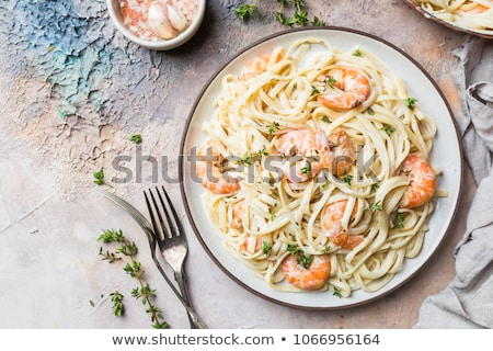 Pasta with shrimps  Stock photo © user_11224430
