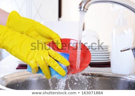 eller · eldiven · mutfak · ev · işi · ev - stok fotoğraf © candyboxphoto