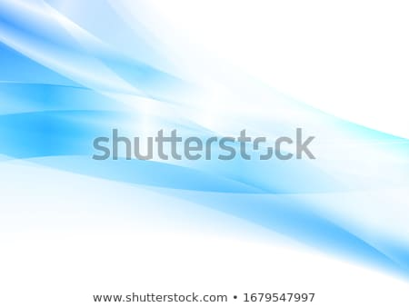 Blu ciano abstract corporate onde vettore Foto d'archivio © saicle