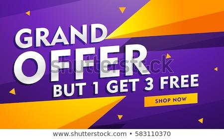 Offrire poster banner design retail industria Foto d'archivio © SArts