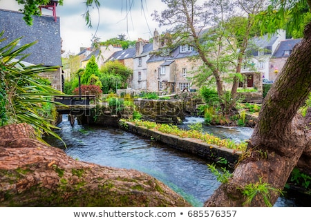 Aven river at Pont-Aven in Brittany Stock photo © prill