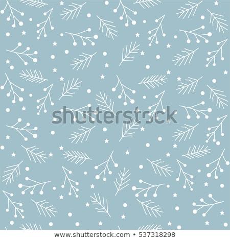 Naadloos christmas Blauw patroon sneeuwvlokken Stockfoto © SwillSkill