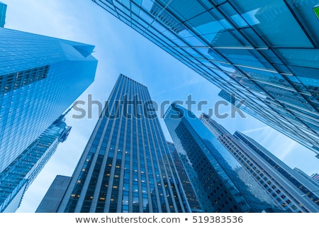 Yeni gökdelenler sokak seviye ofis şehir Stok fotoğraf © Elnur