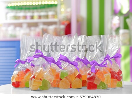 Different colors of sweet candy in bag Stock photo © bluering