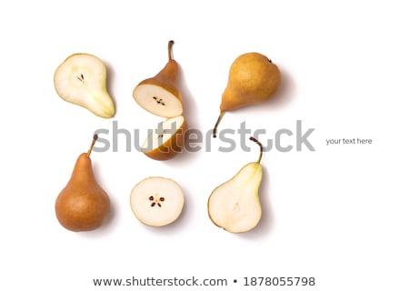 Tutto pere maturo bianco frutta fresche Foto d'archivio © Digifoodstock