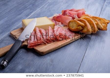 Kenyér étel háttér sajt reggeli tábla Stock fotó © M-studio