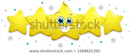 Vier glanzend smileys ingesteld origineel glimlach Stockfoto © tilo