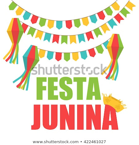 festa junina holiday background with colorful garlands Stock photo © SArts