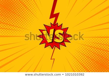 vs versus comic pop art Stock photo © studiostoks