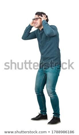 Vue de côté affaires tête main souffrance maux de tête Photo stock © wavebreak_media