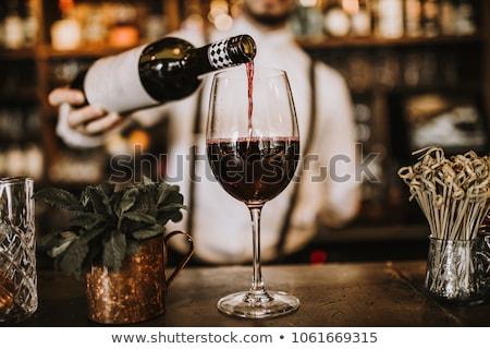 olasz · bor · piros · szőlőtőke · olasz · zászló · ősz - stock fotó © stefanoventuri