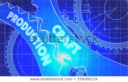 производства план стиль механизм технической Сток-фото © tashatuvango