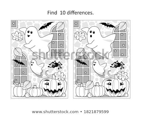 Pók folt különbség játék gyerekek feladat Stock fotó © Olena