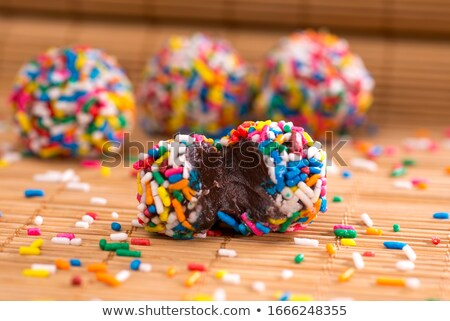 chocolate candy brown truffle with sprinkle stock photo © orensila