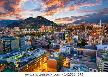 Aerial view of Santiago Stock photo © THP