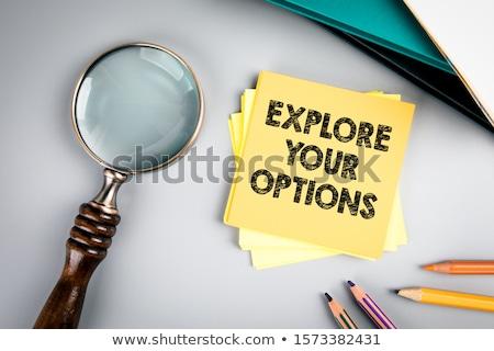 explore your options   business concept stock photo © tashatuvango
