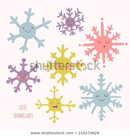 Flocon de neige cute personnage cartoon Photo stock © rogistok