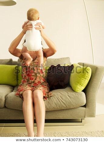 матери ребенка лицах скрытый женщину Сток-фото © IS2
