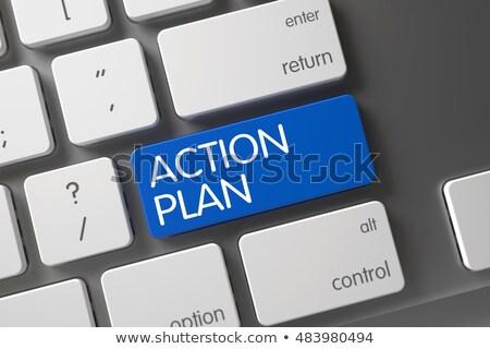 青 · アクション · 計画 · 2016 · ボタン · キーボード - ストックフォト © tashatuvango